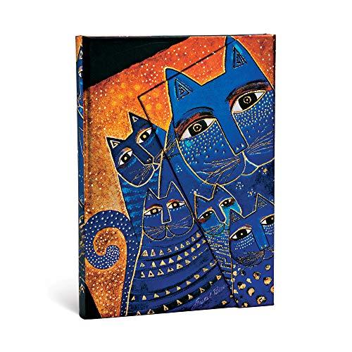 Laurel Burch Katzen Mittelmeer - Notizbuch Midi Liniert - Paperblanks