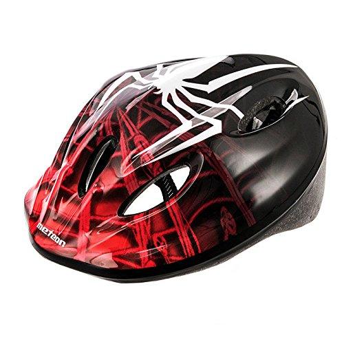Casco Bicicleta Bebe Helmet Bici Ciclismo para Niño - Cascos para Infantil - Bici Casco para Patinete Ciclismo Montaña BMX Carretera Skate Patines monopatines (M(52-56 cm), MV5-2 Spider)