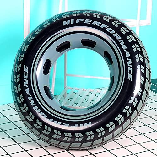 ZYNS Anillo de natación engrosado anillo de natación de impresión de neumáticos ampliado salvavidas adultos piscina juguete de agua anillo flotante axila inflable