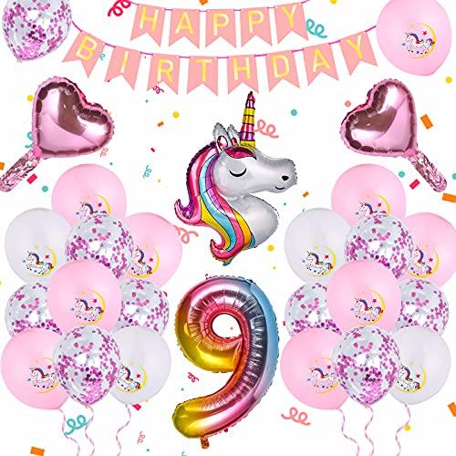 Ulikey Unicornio Decoración de Cumpleaños, 20 Pack Fiesta Decoración con Globo de...