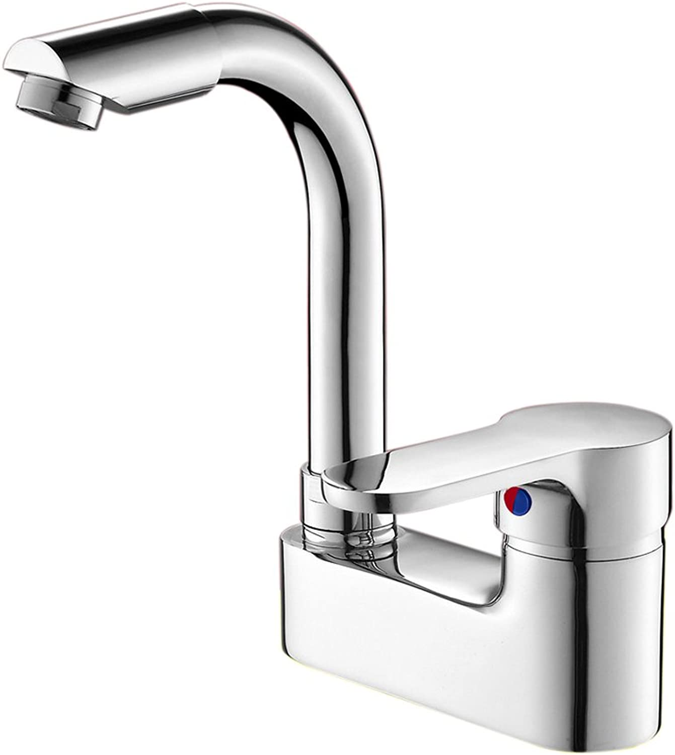 Faucet Full Copper Double Hole Basin Faucet, redatable Bathroom Bathroom Three Hole Wash Basin Basin Basin Basin Faucet, Single Handle Double Hot And Cold Water Mixing Valve Conversion Faucet