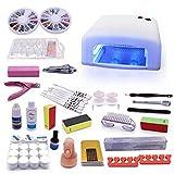 Set de manicura para principiantes, dispositivo de iluminación LED, accesorios para uñas, juego de manicura con fresa y lámpara LED para un diseño moderno de uñas.