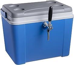 Chopeira a gelo caixa 34l para barril heineken 5l - azul com torneira italiana