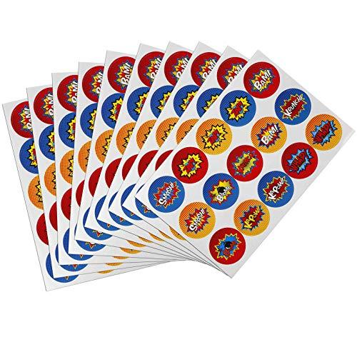 HONGXIN-Shop Pegatinas de Superhéroes Divertidas Adhesivo Sticker Decoración para Niños Fiesta Marcador Libro de Recortes 10 Hojas de 150 Piezas