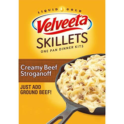 Velveeta Meals Cheesy Skillets Meal Kit oz Box, Creamy Beef Stroganoff, 11.6 Ounce