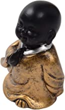 Flameer Small Resin Buddha Statue Monk Figurine Tea Pet Ornament for Room Decor - Style04