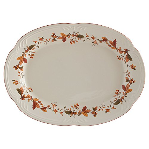 Autumn Berry Oval Platter, 14-3/4-Inch x 11