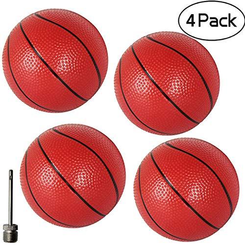 6' Small Pool Baksetballs Little Rubber Baketball Kids Kick Balls Replacement Playground Dodgeballs for Door Basketballs Hoop Toddlers Teenagers Adults Home/Office Indoor/ Outdoor Sports Activity