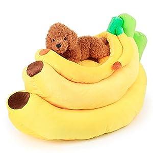 Fruits Banane Base de niche de chien pour animal domestique