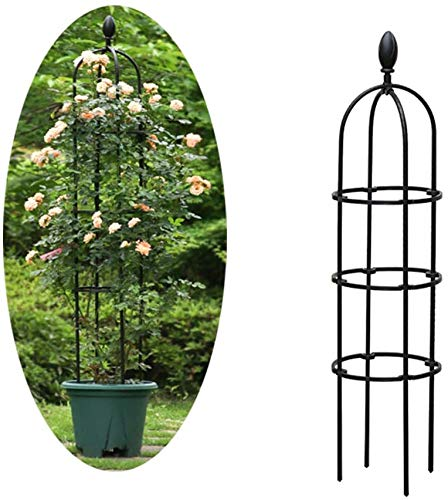 ZXL Garden Obelisk Flower Support, Metal Climbing plant supports for potted plants, Frame Trellis, Garden Frame for Climbing Vines and Plants Rose