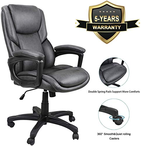 Ergousit Luxurious Executive Office Chair, High-Back Leather...