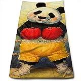 Tyueu Toalla de Cocina de Cara Bath Towels Boxing Cute Panda Face Towels Highly Absorbent Washcloths Multipurpose Towels for Hand Face Gym and SPA 27.5' X 15.7'