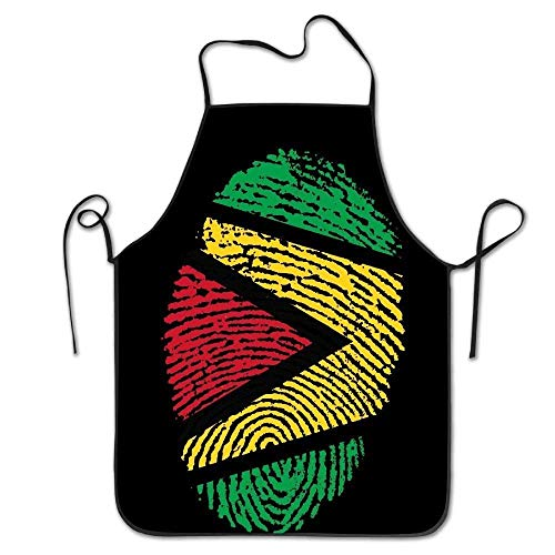 N\A Guyana Flag Ideen nur auf Pinterest Frauen Männer Küche Lätzchen Schürze Blumen Shop Maniküre-Shop mit verstellbarem Hals Chef's Schürze