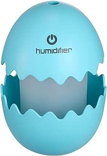 Innerest Portable Mini Humidifier Cool Mist a single room office desk kids night lights lamp (BLUE, Eggshell)