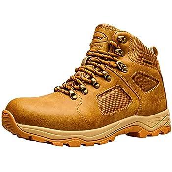 Ansbowey Bottes de randonnée Impermeable pour Homme Femme, Légères Outdoor Chaussures de Randonnée, Bottes de marche ocre Jaune EU40