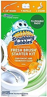Scrubbing Bubbles Fresh Brush Toilet Cleaning System Starter Kit, Citrus (Pack of 2)
