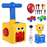 Orpey Balloon Car Launcher Set, Balloon Powered Car Balloon Launcher Toy, Inflatable Pump Balloon inflator Aerodynamics Educational Gifts for Kids with 12 Balloons (Aged 3+)