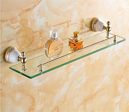 FAFZ Porte Double-serviettes, salle de bains Accessoires de style européen, salle de bains étagère en verre (couleur : # 3)