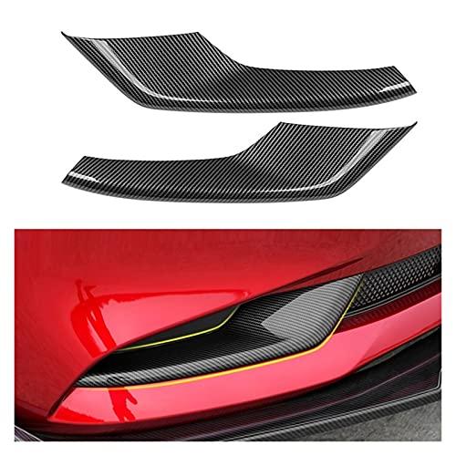 shiyi Ajuste para Mazda 3 Axela Sedan BP 2019 2020 Coche Fibra De Carbono Fibra Frontal Fuje Lámpara De Luz Lámpara De Ajuste Moldeado Bisel Garnish Pegatinas (Color : Carbon Fiber)