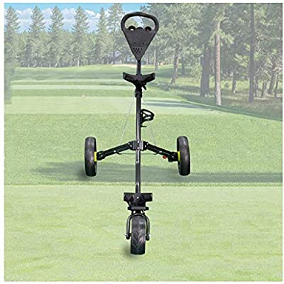 LYATW Falten 3-Rad-Push-Pull-Golf Fußbremse