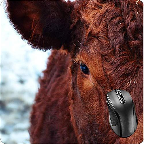 Alfombrilla de ratón con respaldo de goma, color rojo Aberdeen Angus carne...