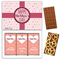 "DA CHOCOLATE キャンディ スーベニア ""母の日おめでとう"" HAPPY MOTHERS DAY チョコレートセット 7,2×5,2一箱 (MILK Blueberry Coconut Pretzel)"
