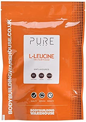 Bodybuilding Warehouse Pure Leucine Powder 250g Instantised - Helps Muscle Growth