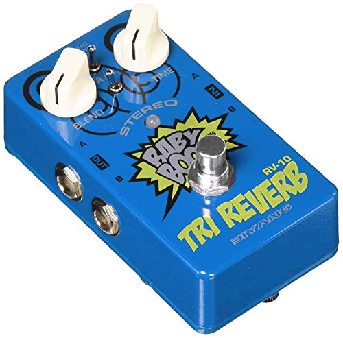 Reverb Guitar Pedal,Stereo Effects Pedal 3 Modes Hall Spring Room True Bypass Guitar Mini Multi-effects Pedal Full Metal Shell