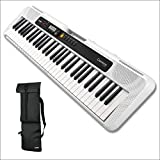Casio CT-S200WE 61-Keys Portable Keyboard with Casio CBS100 Carry Bag