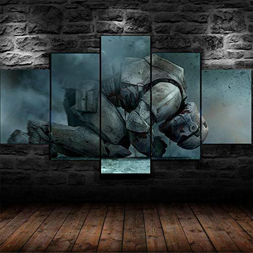VYQDTNR Kunstdrucke Moderne Druck Malerei Hintergrund Dekoration Modulare 5 Teiliges Wandbild Star Wars Stormtrooper fühlen Sich Poster Wandkunst Leinwand Creative Geschenk Kunstwerk- 200X100cm