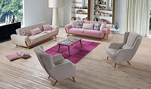 Aden Sofa-Set Schlafsofa 3 3 1