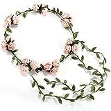 SODIAL(R) 3 Fleur/ banquet! Serre tete Accessoire bandeau Cheveux Mariage Foral head garland wedding Headband Rose