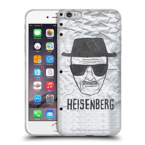 Head Case Designs Licenciado Oficialmente Breaking Bad Heisenberg Gráficos Carcasa de Gel de Silicona Compatible con Apple iPhone 6 Plus/iPhone 6s Plus