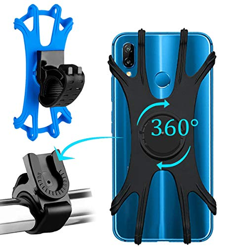 Torchtree Bike Phone Holder-360°Rotatable Adjustable Detachable/Silica gel,Universal- Motorbike/Mountain/Road Bike accessories (2pack).