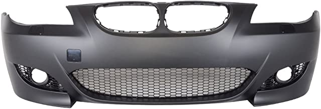 Front Bumper Conversion Compatible With 2004-2010 BMW E60 E61 SEDAN AND WAGONS | M5 Style PP Black Bumper Cover Conversion Bodykit by IKON MOTORSPORTS | 2005 2006 2007 2008 2009