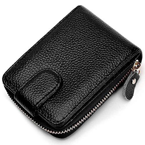 ppactvo Geldbeutel Damen Leder Portemonnaie Damen Klein Brieftaschen Für Frauen Geldbörse Für Damen Damen Geldbörse Hand Geldbörse Black