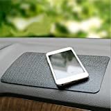 MiniSuit Tapis de Voiture Anti-dérapant Silicone Universel Support pour Smartphone Tablette - Tableau de Bord/Table de Bureau - Noir 28cm x 18cm