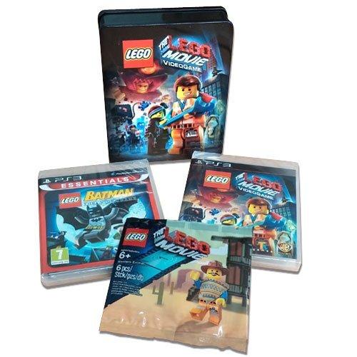 Preisvergleich Produktbild Lego Doppelpack Steelbook PS-3 Lego Batman + Lego Movie + Western Emmet Figur