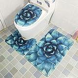 Mdsfe ZDNko 3PCS coprisedile WC assorbente d'acqua i-Skid hroom tappeto hroom tappetino tappetino Hotel hroom tappetino Camera da letto tappetino - 7