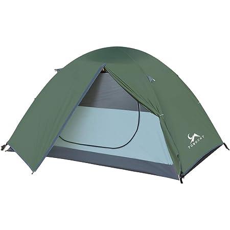 TOMOUNT テント ソロ 1人用/2人用 キャンプテント コンパクト アウトドア 7001アルミ 210T 耐水圧3000mm クラシック構造 四季テント