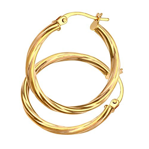 Citerna Damen-Creolen 375 Gelbgold 9 karat 20 mm Durchmesser