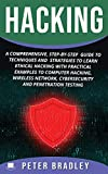 Hacking: A Comprehensive, Step-By-Step Guide to Techniques and Strategies to Learn Ethical Hacking With Practical Examples to Computer Hacking, Wireless Network, Cybersecurity and Penetration Test