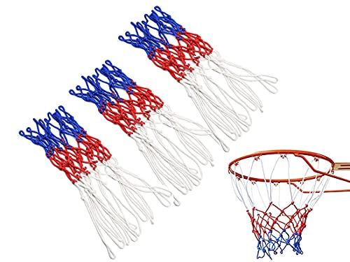 HUIRUMM Red de canasta de baloncesto, resistente para cualquier condición meteorológica, red de baloncesto, red estándar 12 canasta de repuesto, apta para interior o exterior (3 unidades)
