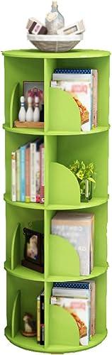 Bücherregal CHUANLAN Einfache Kind Student Wohnzimmer Schlafzimmer 360 ° Drehung Regale (Farbe   Grün 40  128cm)