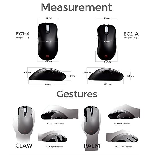 BenQ Zowie EC1-A Ergonomic Gaming Mouse for Esports (Large)