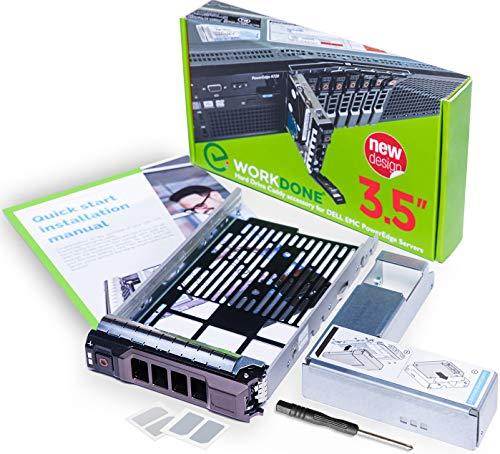 WorkDone 3,5-Zoll Hard Drive Caddy Tray mit 2,5-Zoll-HDD-Adapter - kompatibel für Dell PowerEdge Server 11-13. Generation NVMe SSD SAS SATA - Halterung Konverter Gehäuse