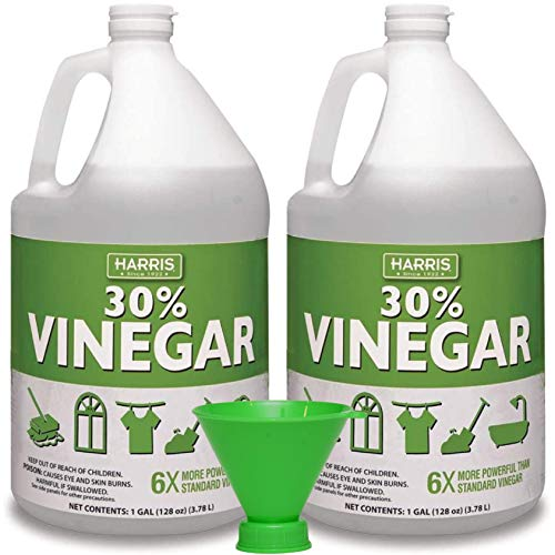 30% Pure Vinegar, Extra Strength by Harris with Funnel (2 Pack, Gallon)