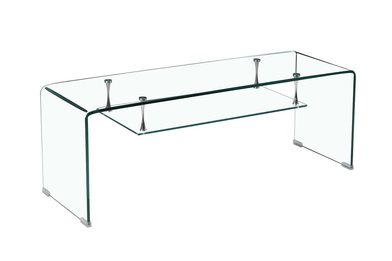 Meubletmoi - Mueble de TV de Cristal Transparente - Estante ...