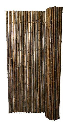 Backyard X-Scapes Black Rolled Bamboo Fence 1in D x 4ft H x 8ft  L