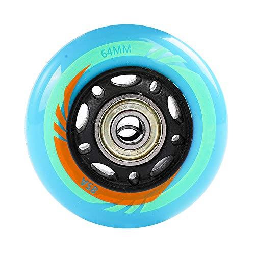 SSCYHT 8er Pack Inline Skate Rollen - Blau 85A 64mm 68mm - Hockey Skate PU Ersatzrollen,64mm